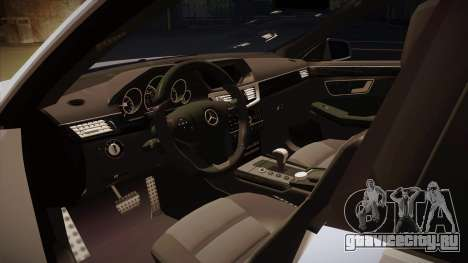 Mercedes-Benz E63 6.3 AMG Tedy для GTA San Andreas вид изнутри