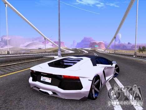 Lamborghini Aventador LP700-4 Vossen 2012 V2.0 F для GTA San Andreas вид слева
