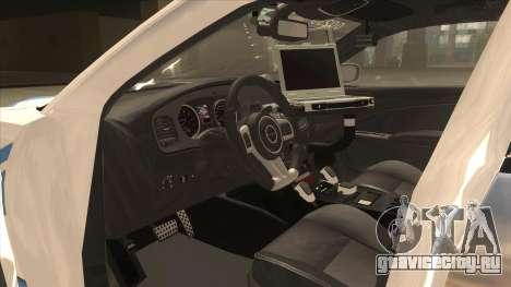 Dodge Charger Detroit Police 2013 для GTA San Andreas вид изнутри