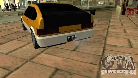 New Blista Compact для GTA San Andreas вид сзади слева