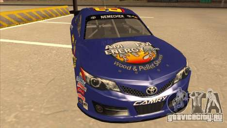 Toyota Camry NASCAR No. 87 AM FM Energy для GTA San Andreas вид слева