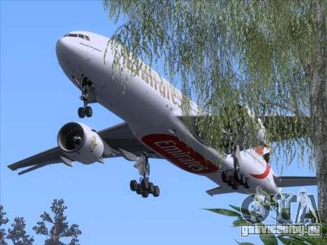 Boeing 777-21HLR Emirates для GTA San Andreas вид сверху