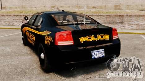 Dodge Charger 2008 LCPD Slicktop [ELS] для GTA 4 вид сзади слева