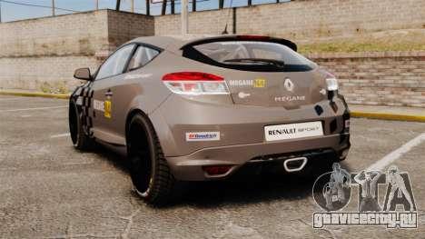 Renault Megane RS N4 для GTA 4 вид сзади слева