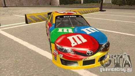 Toyota Camry NASCAR No. 18 MandMs для GTA San Andreas вид слева