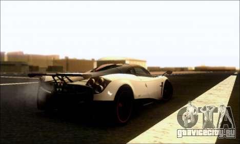 Pagani Huayra Cinque для GTA San Andreas вид справа