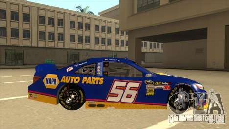 Toyota Camry NASCAR No. 56 NAPA для GTA San Andreas вид сзади слева