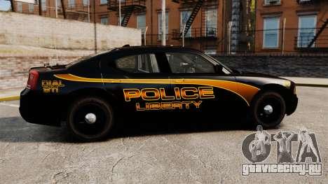 Dodge Charger 2008 LCPD Slicktop [ELS] для GTA 4 вид слева