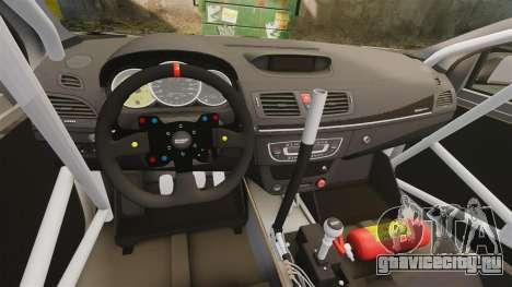 Renault Megane RS N4 для GTA 4 вид сзади
