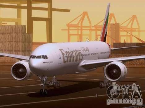 Boeing 777-21HLR Emirates для GTA San Andreas вид слева