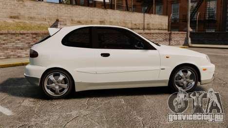Daewoo Lanos GTI 1999 Concept для GTA 4 вид слева