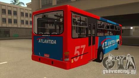 Marcopolo Torino G6 Linea 57 Atlantida для GTA San Andreas вид справа