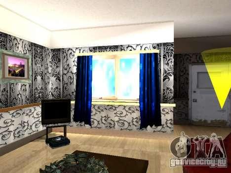 Новый интерьер 2-ух этажного дома CJ для GTA San Andreas шестой скриншот