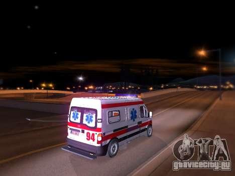 Renault Master Сербский скорой помощи для GTA San Andreas вид сзади слева
