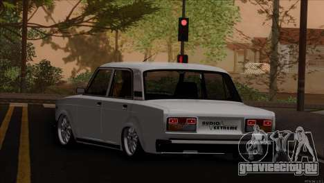 ВАЗ 2107 audio extrem для GTA San Andreas вид слева