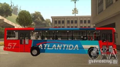 Marcopolo Torino G6 Linea 57 Atlantida для GTA San Andreas вид сзади слева