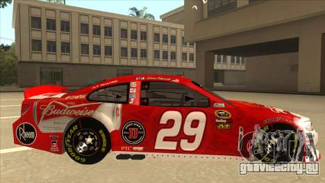 Chevrolet SS NASCAR No. 29 Budweiser для GTA San Andreas вид сзади слева