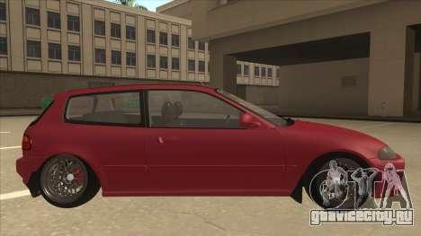Honda Civic EG6 Camber для GTA San Andreas вид сзади слева