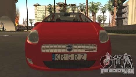 Fiat Grande Punto для GTA San Andreas вид слева