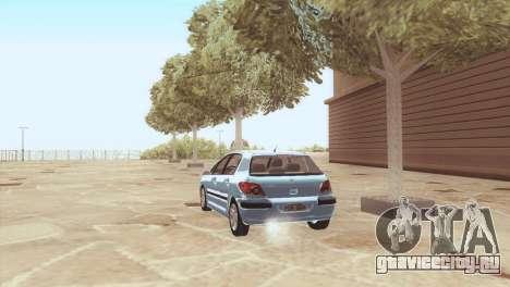 Peugeot 307 для GTA San Andreas вид сзади слева