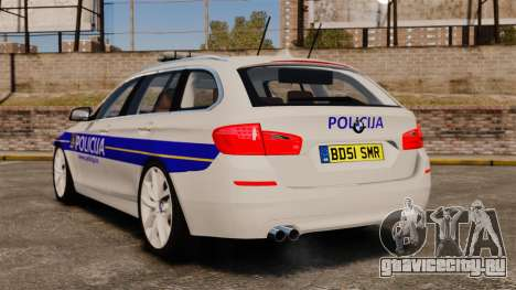 BMW M5 Touring Croatian Police [ELS] для GTA 4 вид сзади слева