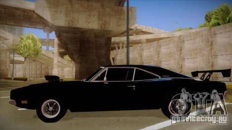 Dodge Charger для GTA San Andreas вид сзади слева