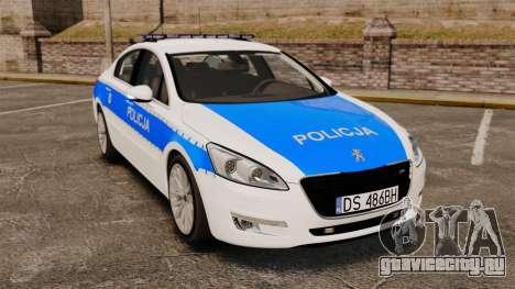 Peugeot 508 Polish Police [ELS] для GTA 4