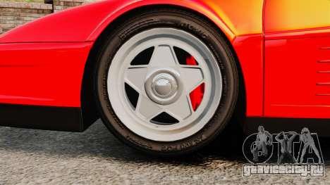 Ferrari Testarossa 1986 для GTA 4 вид сзади