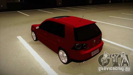 VW Golf GTI 2008 для GTA San Andreas вид сзади