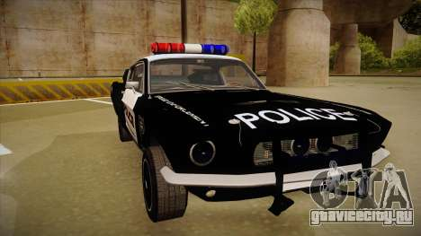 Shelby Mustang GT500 Eleanor Police для GTA San Andreas вид слева