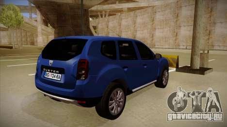 Dacia Duster SUV 4x4 для GTA San Andreas вид справа