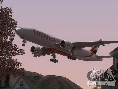 Boeing 777-21HLR Emirates для GTA San Andreas колёса