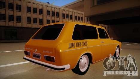 VW Variant 1972 для GTA San Andreas вид справа