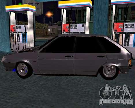 ВАЗ 2109 Битая для GTA San Andreas вид слева
