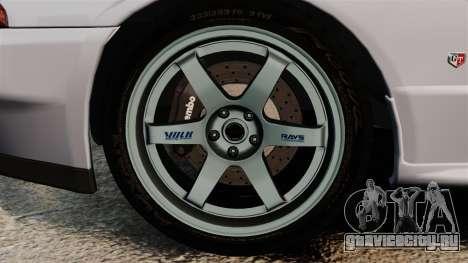 Nissan Skyline GT-R (R32) для GTA 4 вид сзади