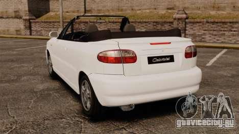 Daewoo Lanos 1997 Cabriolet Concept для GTA 4 вид сзади слева