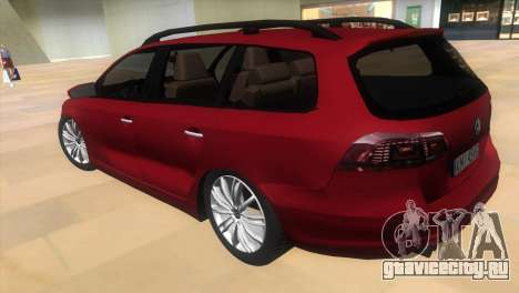 Volkswagen Passat B7 2012 для GTA Vice City вид слева
