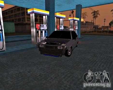 ВАЗ 2109 Битая для GTA San Andreas вид сзади слева