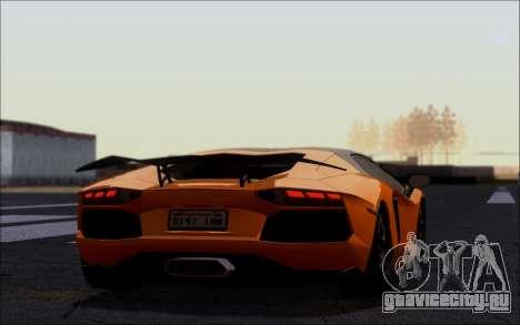 Lamborghini Aventador LP760-2 EU Plate для GTA San Andreas вид слева
