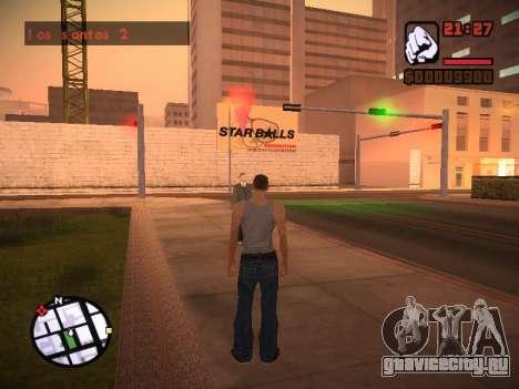 Новое меню и новый шрифт для GTA San Andreas одинадцатый скриншот