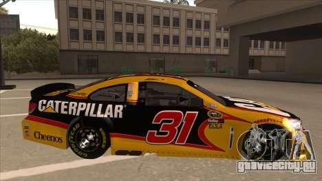 Chevrolet SS NASCAR No. 31 Caterpillar для GTA San Andreas вид сзади слева