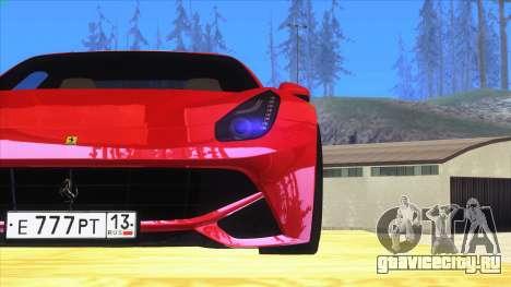Ferrari F12 Berlinetta для GTA San Andreas вид слева