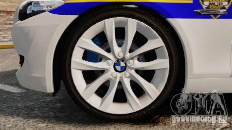 BMW M5 Touring Croatian Police [ELS] для GTA 4 вид сзади