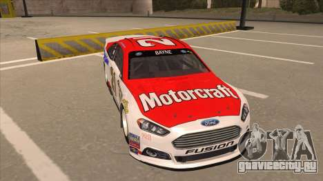 Ford Fusion NASCAR No. 21 Motorcraft Quick Lane для GTA San Andreas вид слева