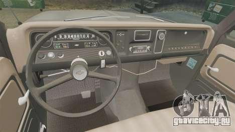 Chevrolet C-10 Stepside v1 для GTA 4 вид изнутри