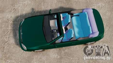 Daewoo Lanos 1997 Cabriolet Concept v2 для GTA 4 вид справа
