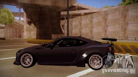 Subaru BRZ Rocket Bunny для GTA San Andreas вид сзади слева