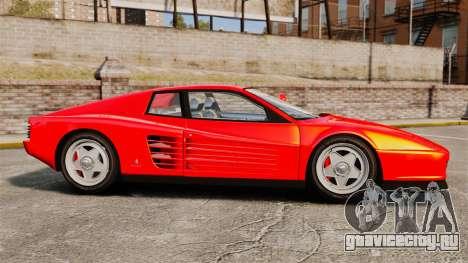 Ferrari Testarossa 1986 для GTA 4 вид слева