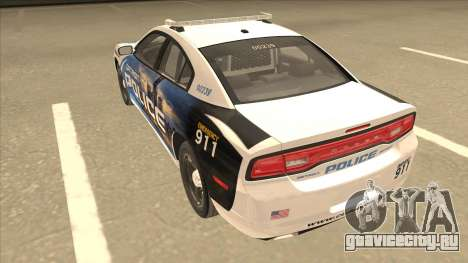 Dodge Charger Detroit Police 2013 для GTA San Andreas вид сзади