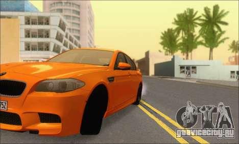 BMW M5 Vossen для GTA San Andreas вид сбоку